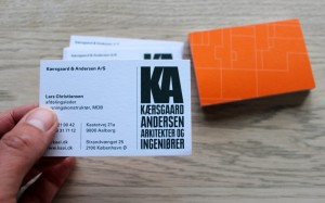 Visitkort for Kærsgaard & Andersen