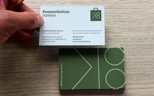 Visitkort for Kommunikations butikken